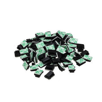 100PCS Dash Cam Cable Card Flat Network Cable Wiring Buckle 13*9mm