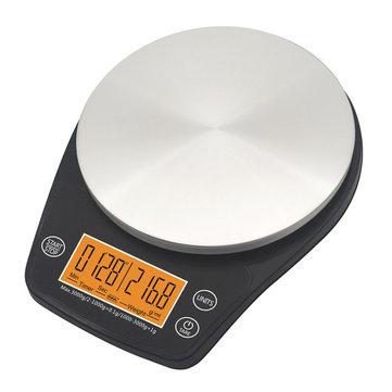 6.6 lb / 3 kg 2.4 pulgadas LCD Pantalla Portátil Digital Escala Café Escala Temporizador de cocina Comida Dieta Sala de correos Saldo de la oficina Peso Báscula