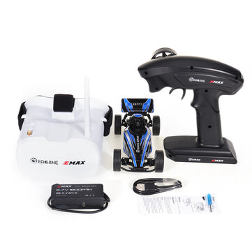 Eachine and EMAX EAT03 1 or 24 2.4G RWD Electric FPV RC Car w or Optional Goggles for Interceptor Full Proportional Control RTR Model