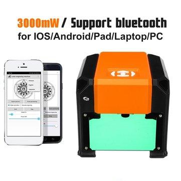 3000mW High Speed Desktop Laser Engraving Machine Phone USB Logo Marking Engraver Printer DIY Carving Cutter