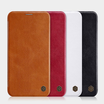 NILLKIN Flip Shockproof Card Slots Holder Full Cover PU Leather PC Protective Case for iPhone 11 Pro 5.8 inch