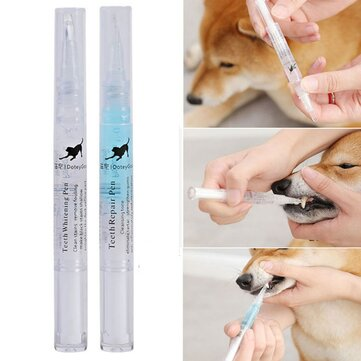 Buy 2PCS Dog Cat Pet Teeth Cleaning Pen Brightening Toothbrush Tartar Remove Dental Calculus Grooming Oral Care Safe Tool with Litecoins with Free Shipping on Gipsybee.com
