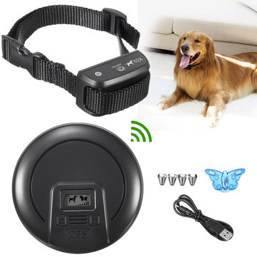 Buy Wireless Dog Fence System No-Wire Pet Collar Containment Rechargeable Dog Training Collar with Litecoins with Free Shipping on Gipsybee.com