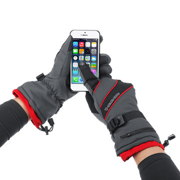 Winter Ski Cycling Thermal Gloves Touch Screen Anti-slip Full Finger Bike Glove to buy with Bitcoin and Free Shipping on Gipsybee.com