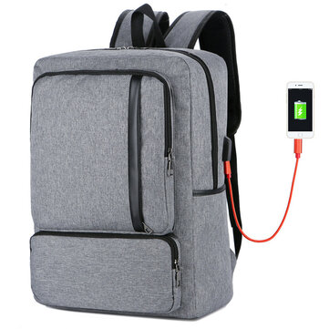 FLAME HORSE Laptop Bag Large Capacity Simple Business Men's Backpack Coupon Code and price! - $24