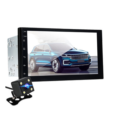 7 Inch for Android 8.0 Car Stereo Radio 2.5D 2 Din Quad Core 1+16G GPS WIFI FM with Rear Camera