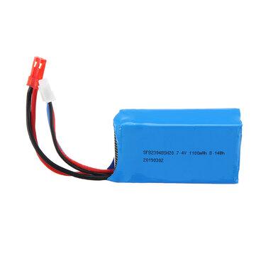 Wltoys 7.4V 1100mAh 20C 2S Lipo Battery JST Plug for A949 A959 A969 A979 1/18 RC Vehicles