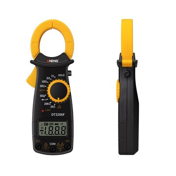 ANENG DT3266F Mini Digital Clamp Multimeter Amperemeter Electrical Clamp Meter AC / DC Voltage Resistor Tester with Buzzer