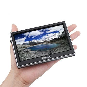 Eachine D-moni5 5.8 GHz 72CH 5 Inch 800 * 480 16: 9 Mini FPV Monitor DVR Built-In Baterai untuk RC Drone Airplane
