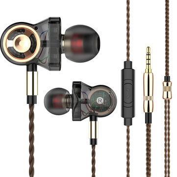 QKZ CK10 Six Dynamic Driver Unit Heavy Bass Music Earphone In-line Control with Mic