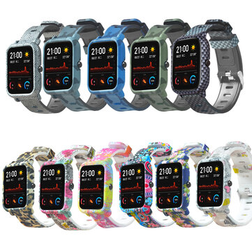 Colorful Silicone Watch Band and Case Cover for Amazfit GTS