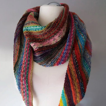 Dark Red Casual Knitted Women's Scarves & Shawl