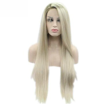 How can I buy Sylvia Heat Resistant Hair Ombre Blonde Synthetic Lace Front Wig For Women  with Bitcoin