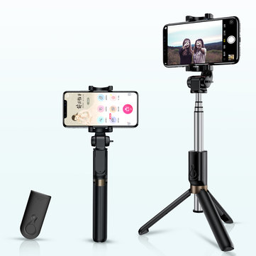 ROCK bluetooth Tripod Selfie Stick Portable Retractable Monopod Remote Control for Live iPhone Android Phones