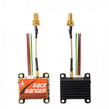 AKK Race Ranger Smart Audio 200mW / 400mW / 800mW / 1600mW Power Switchable FPV Transmitter w / SMA Adapter for RC Drone Airplane Long Range