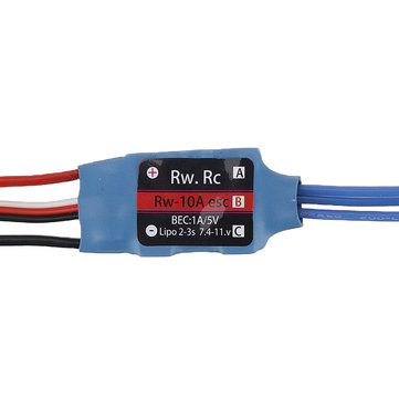 RW.RC 10A Brushless ESC 5V1A BEC 2S 3S for RC Models Fixed Wing Airplane Drone