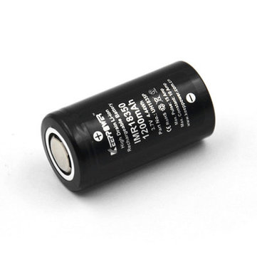 2Pcs Keeppower IMR18350 10A Discharge 1200mAh Rechargeable 18350 Battery for All Astrolux 18350 Flashlights
