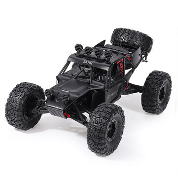 Eachine EAT04 1 or 12 2.4G 4WD Brush Rc Car Metal Body Shell Desert Off road Truck RTR Toy Black