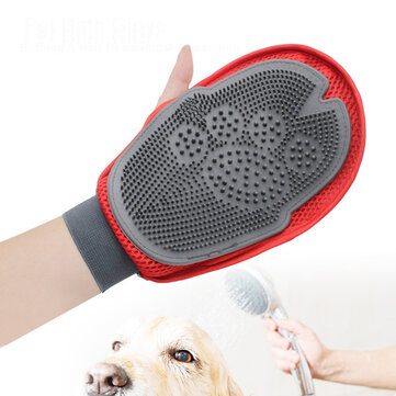 Silicone Magic Pet Bath Glove Cat Dog Hair Remover Glove Massage Cleaning Hair Comb Brush Tool Pet Supplies Grooming Products