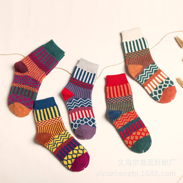How can I buy Christmas Casual Sheath Tribal Women Socks Five Pairs For A Set with Bitcoin