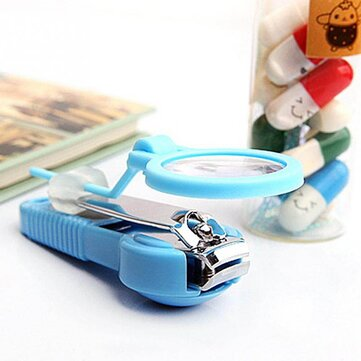 Buy 1pc elderly Children Pocket Finger Toe Nail Clipper Cutter with Magnifying Glass Trimmer Manicure Pedicure Care Scissors Tools with Litecoins with Free Shipping on Gipsybee.com