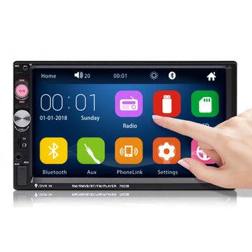 iMars 7023B 7 Pollici Autoradio 2 DIN Radio Lettore MP5 FM USB AUX HD Supporto touch screen bluetooth Posteriore fotografica