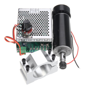 Machifit ER11 Chuck CNC 500W Spindle Motor with 52mm Clamps and Power Supply Speed Governor Mechanical Parts from Tools, Industrial & Scientific on banggood.com
