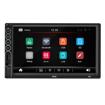 N6 7 Pollici 2 Din Wince Car Radio Stereo MP5 Player 1 + 16G Bluetooth GPS Touch Screen HD NAV FM AUX USB Supporto Interconnessione mobile