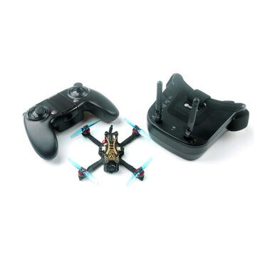 Eachine Novice-II 1-2S 2.5 Inch FPV Racing Drone RTF & Fly more w/ WT8 2.4G Transmitter 5.8Ghz 40CH VR009 Goggles