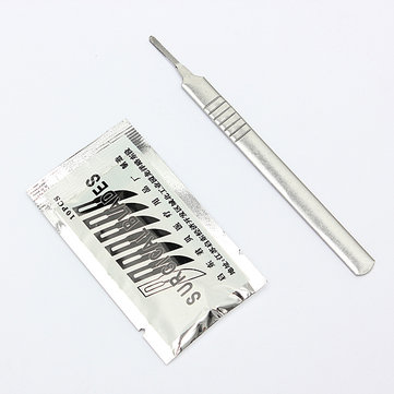 10pcs #11 Carbon Steel Surgical Scalpel Blades + 1pc #3 Handle