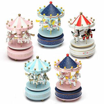 Kids Carousel Music Box Merry Go Round Musical Devolopment Toys Room Decor
