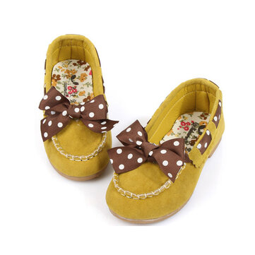 Kids Girls Toddlers Cute Bow Sneakers Slip on Causal Shoes