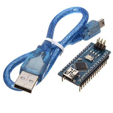 Geekcreit®ATmega328P Nano V3モジュールArduino用USBケーブル開発ボード付き改良版