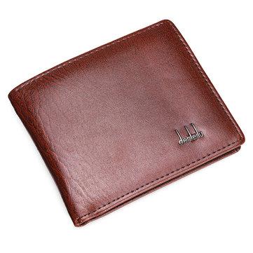 Men's Leather Business Wallet Pocket Card Clutch Purse