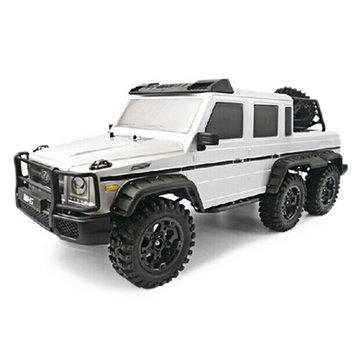HG P601 1/10 2.4G 6WD RC Mobil Listrik Off-Road Crawler Kendaraan Model RTR