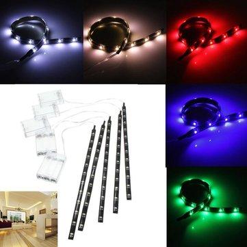 4.5v pilas 30cm LED tira de luz luces de artesanía impermeables luz manía