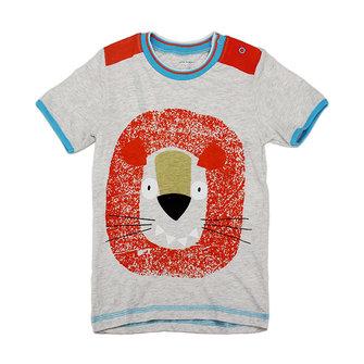 2015 नई लिटिल मैवेन लवली लायन बेबी चिल्ड्रन बॉय कॉटन शॉर्ट स्लीव टी-शर्ट टॉप