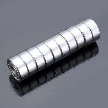 10pcs 4x13x5mm Steel Sealed Shielded Deep Groove Ball Bearing 624zz