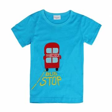 2015 New Lovely Bus Baby Children Boy Pure Cotton Short Sleeve T shirt Top  Banggoods New Arrival Babys T shirts On Sale   Pure cotton  soft and comfortable with lots of different styles available all for only $4 99 for sale in Litecoin with Fast and Free Shipping on Gipsybee.com