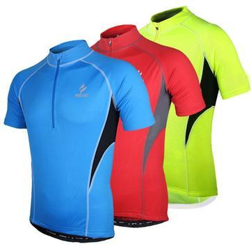 ARSUXEO Mænds Kortærmet Cykling Jersey Cykelcykeltrøje Sportsbeklædning