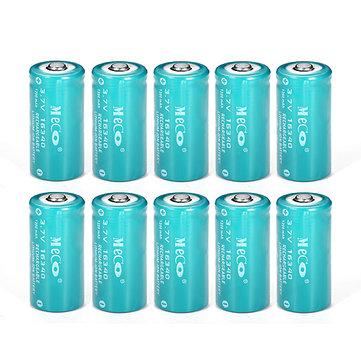 US$17.9910PCS MECO 3.7v 1200mAh Reachargeable CR123A/16340 Li-ion BatteryFlashlightfromLights & Lightingon banggood.com