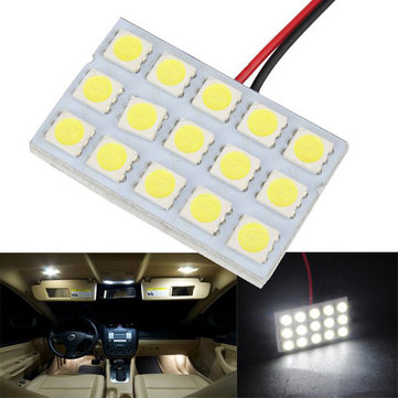 5050 15SMD Car White LED Interior Dome Door Reading Panel Light