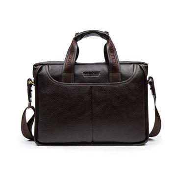 BOSTANTEN Genuine Leather Cowhide Crossbody Messenger Bag Briefcase Business Laptop Handbag