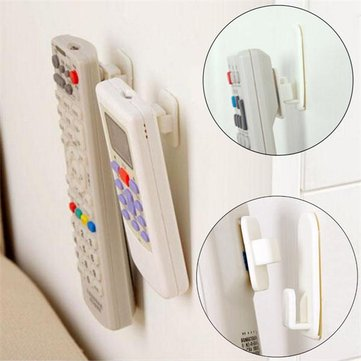 2 Set TV Remote Control AC Kait Lengket Self Adhesive Kuat Gantungan Dinding Sensor