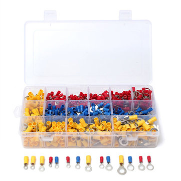 650 Pcs Assorted Ring Insulated Electrical Wire Terminals Crimp Connector Set Kit