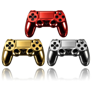 Chrome Plating Housing Shell Parts Case For PS4 Controller DualShock 4