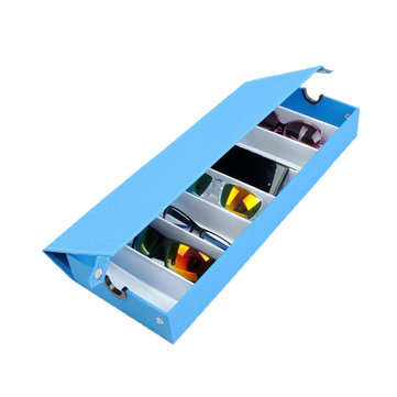8 cuadrículas Gafas Sun Glassess Storage Caja Pantalla Bandeja Jewelry Mostrando Caso