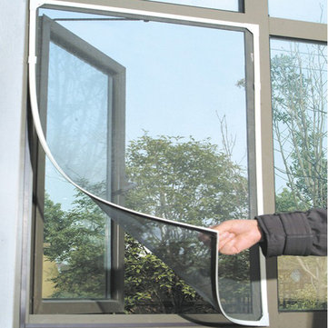 होनाना डब्ल्यूएक्स -318 व्हाइट कीट मच्छर दरवाजा खिड़की मेष स्क्रीन चिपचिपा नायलॉन टेप नेट