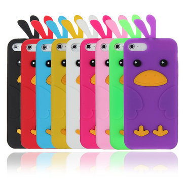 Colorful Cute Lovely Chick Shaped Soft Silikonetui til iPhone 5