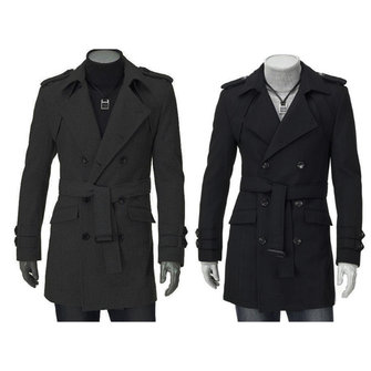 Owing to its fine workmanship, fashion design and high quality cotton material,this double breasted men's coat is very popular in the market.This cotton long jacket is very comfortable to wear and touch.  for sale in Bitcoin, Litecoin, Ethereum, Bitcoin Cash with the best price and Free Shipping on Gipsybee.com